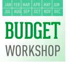 "Image of a calendar with the words ""budget workshop"""