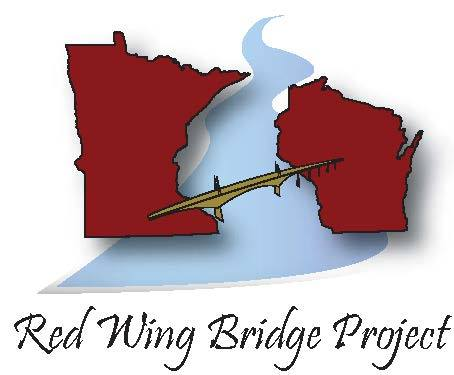 Computer generated logo of a bridge spanning MN and WI