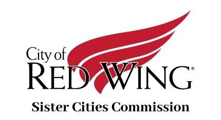 City of Red Wing logo above the words Sister Cities Commission against a white background