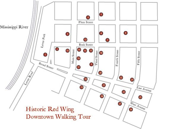 Historic Red Wing Downtown Walking Tour Map