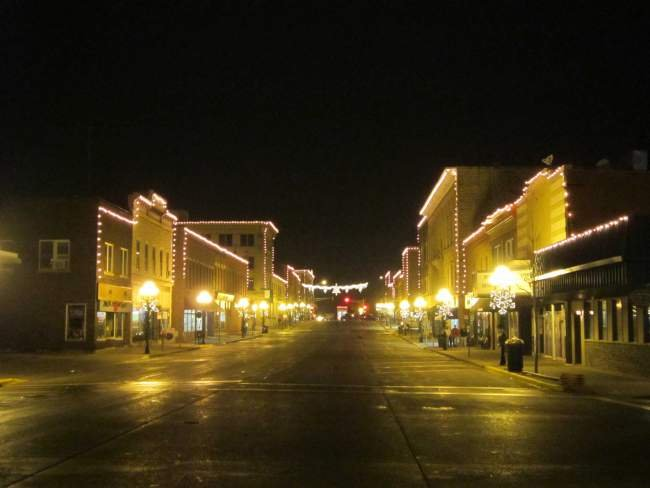Empty Street for Holiday Stroll