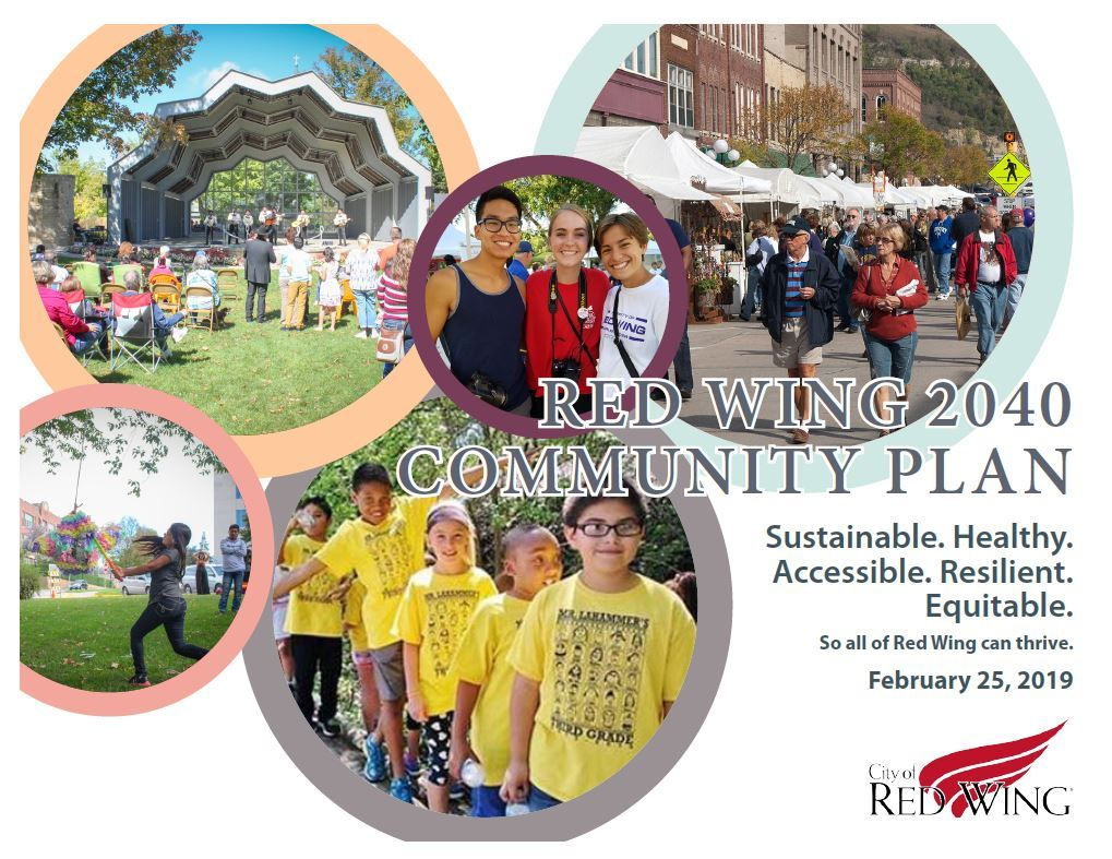 Final cover image of the Red Wing 2040 Community Plan.