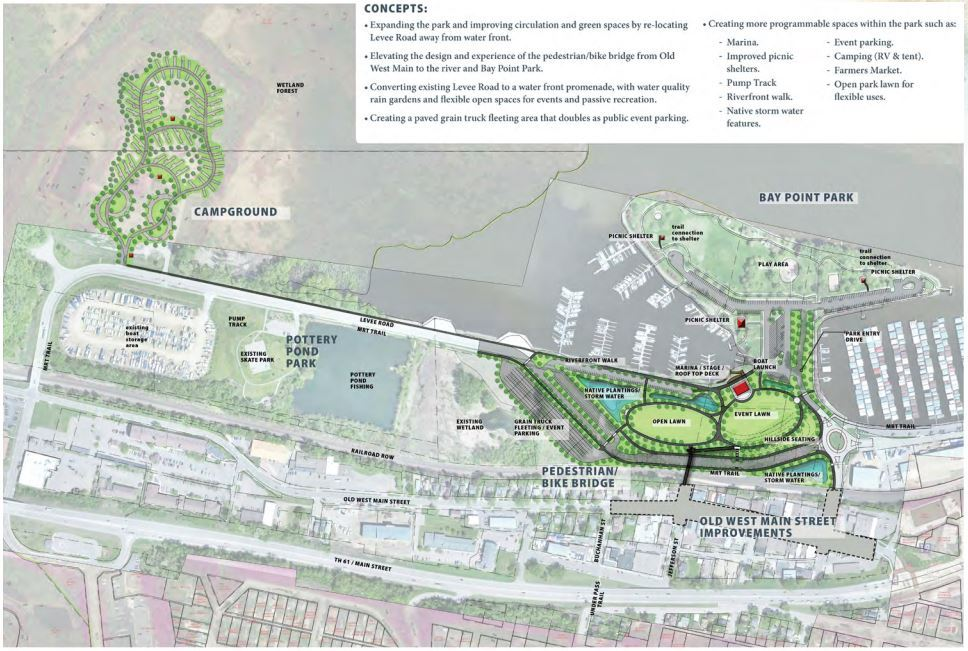 Image of project planning map of the Old West Main - Upper Harbor Renewal.