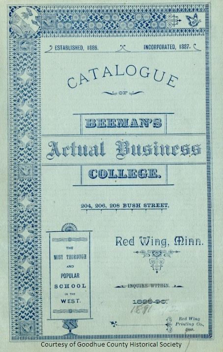 Beemans Actual Business College Catalogue from 1891