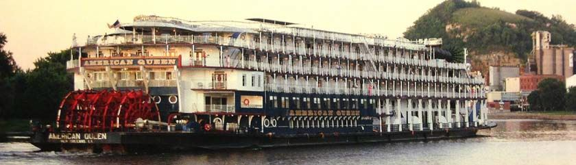 19th Century Steamboat and Passenger Boat in Color